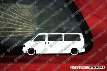 2x Low car outline stickers - for Volkswagen T4 caravelle transporter bus